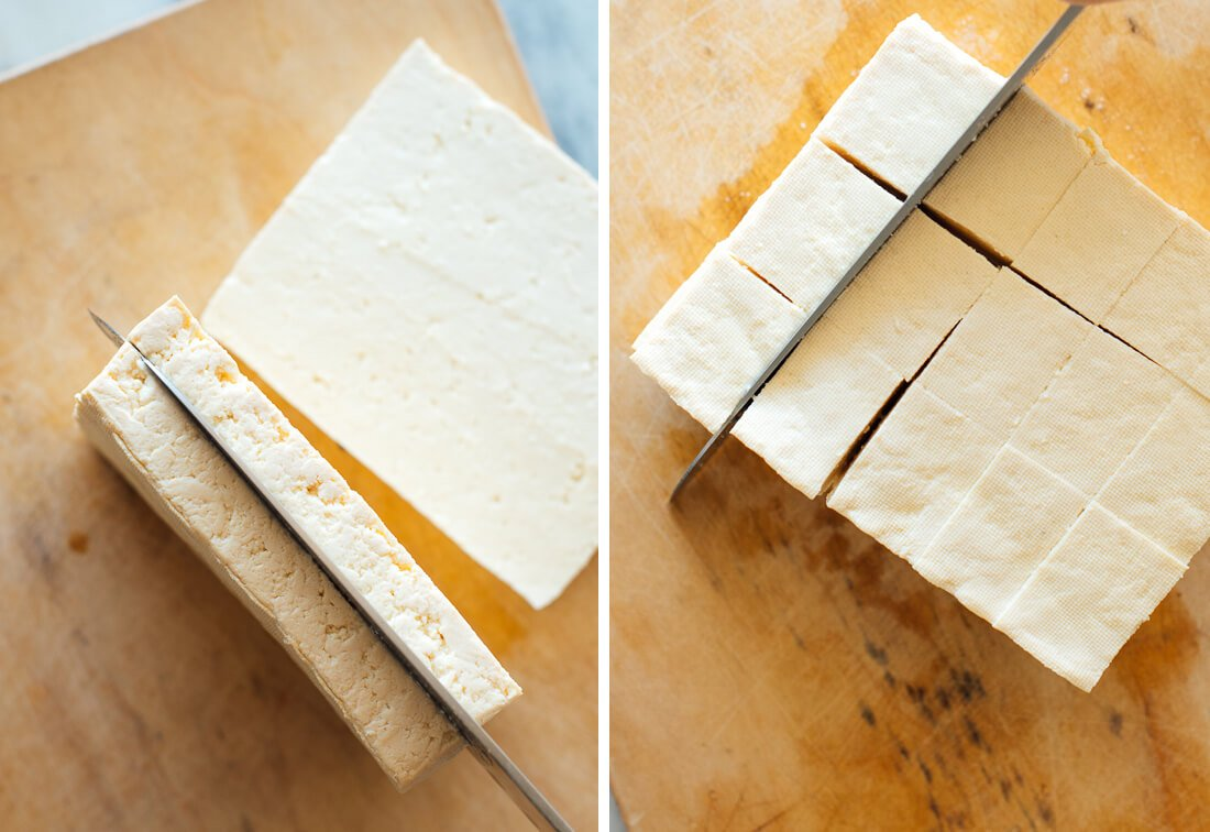 how to slice tofu
