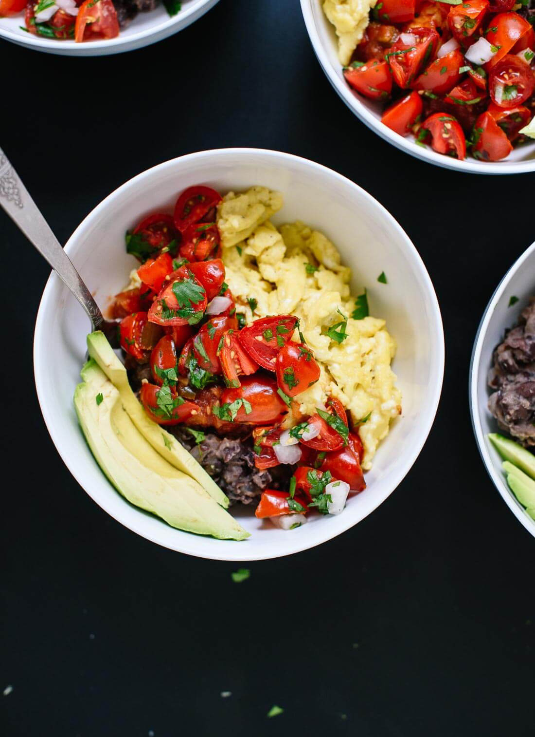 These amazing Mexican breakfast bowls are a great way to start the day! (They're a delicious dinner, too.) cookieandkate.com