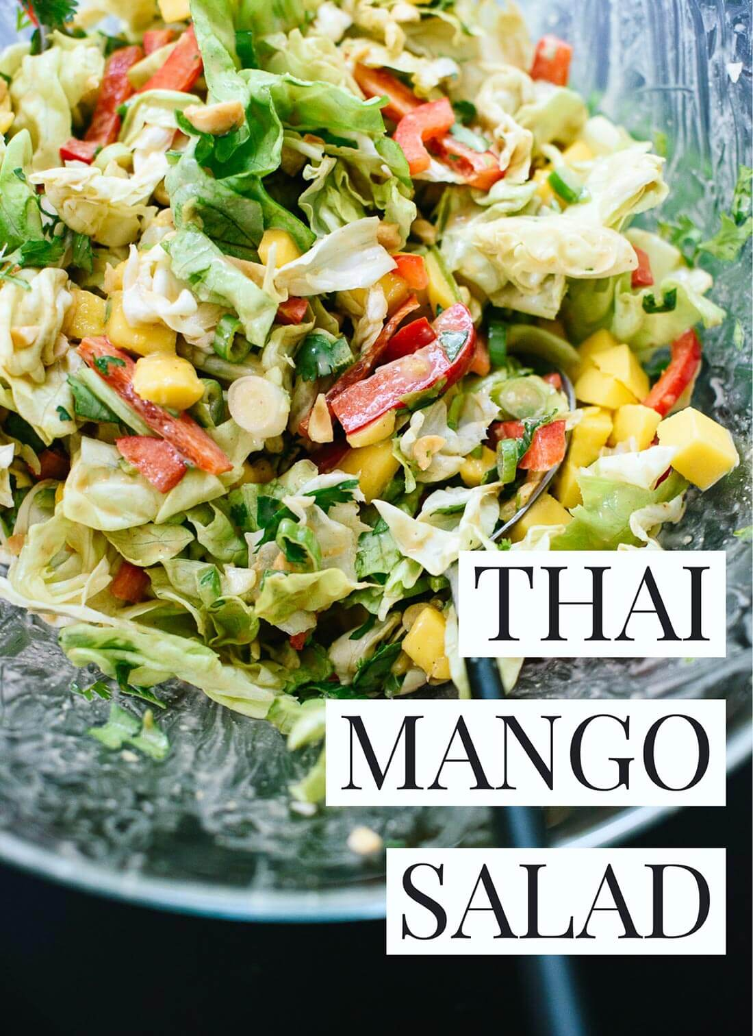 Thai Mango Salad with Peanut Dressing - Cookie and Kate