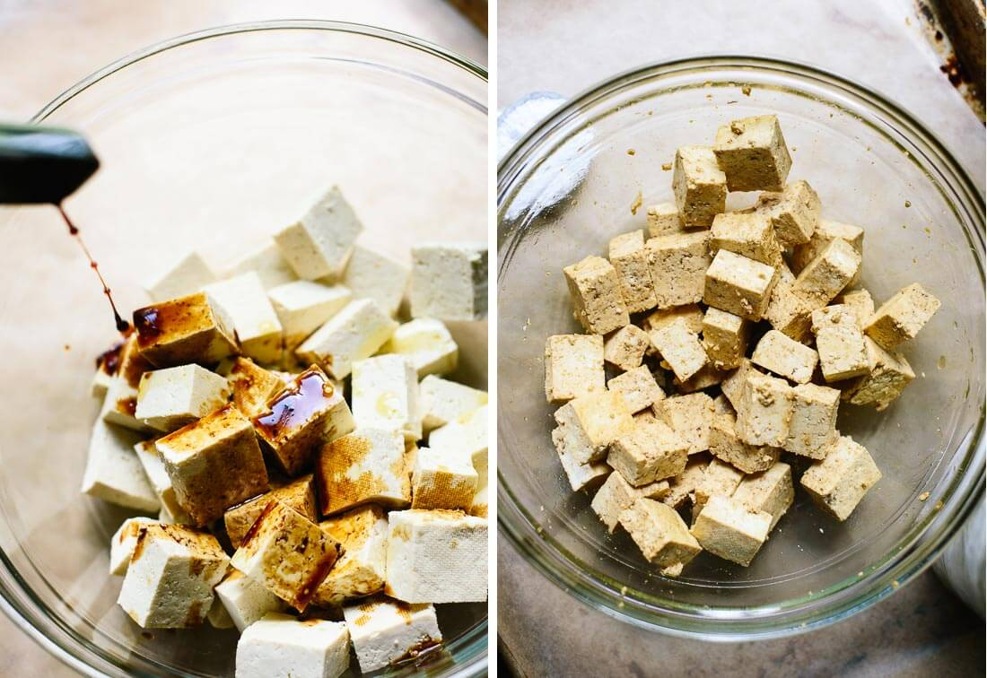 tofu with tamari and arrowroot
