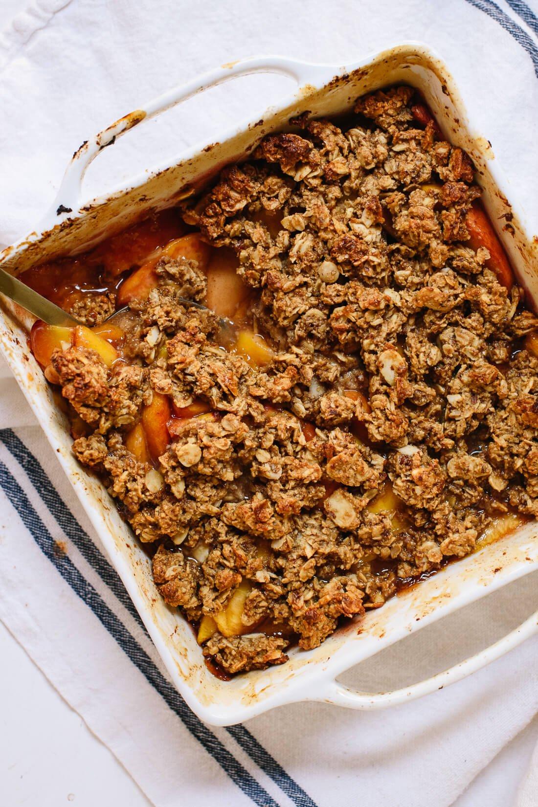 healthy peach crisp recipe