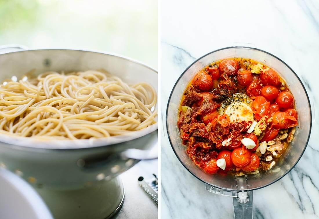 how to make double tomato pesto