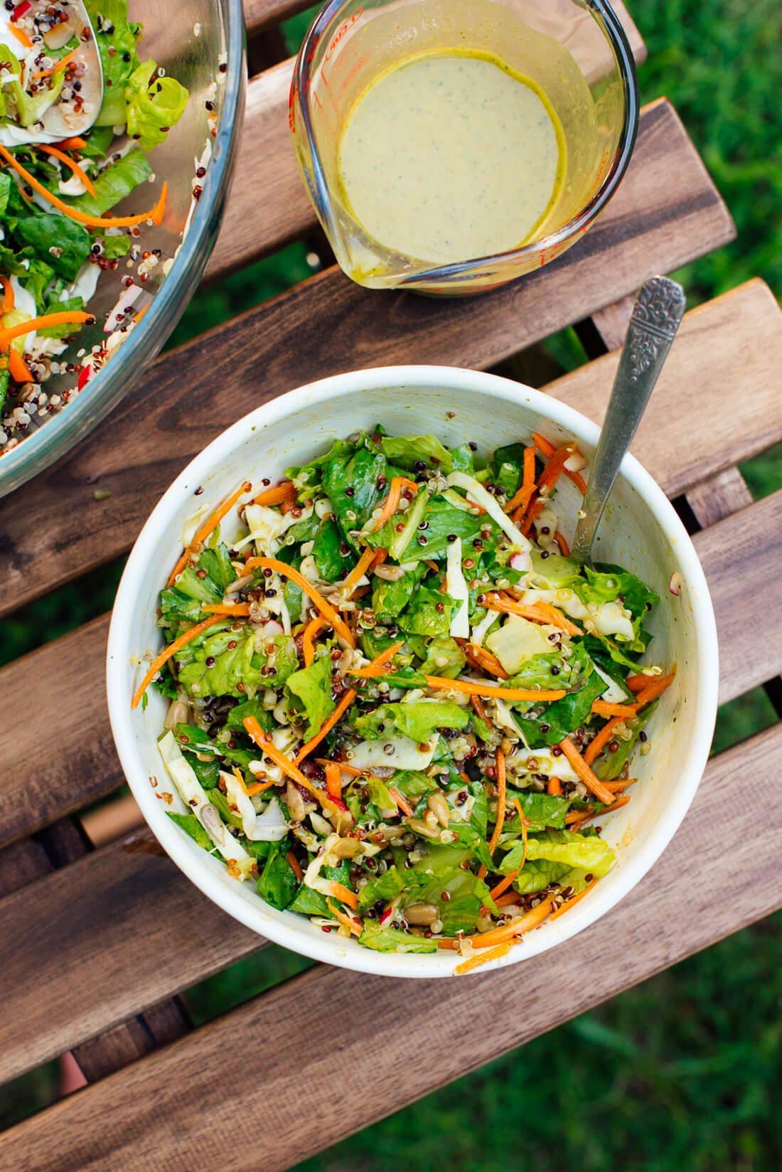mega crunchy quinoa salad recipe