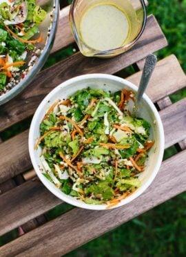 Mega Crunchy Romaine Salad with Quinoa