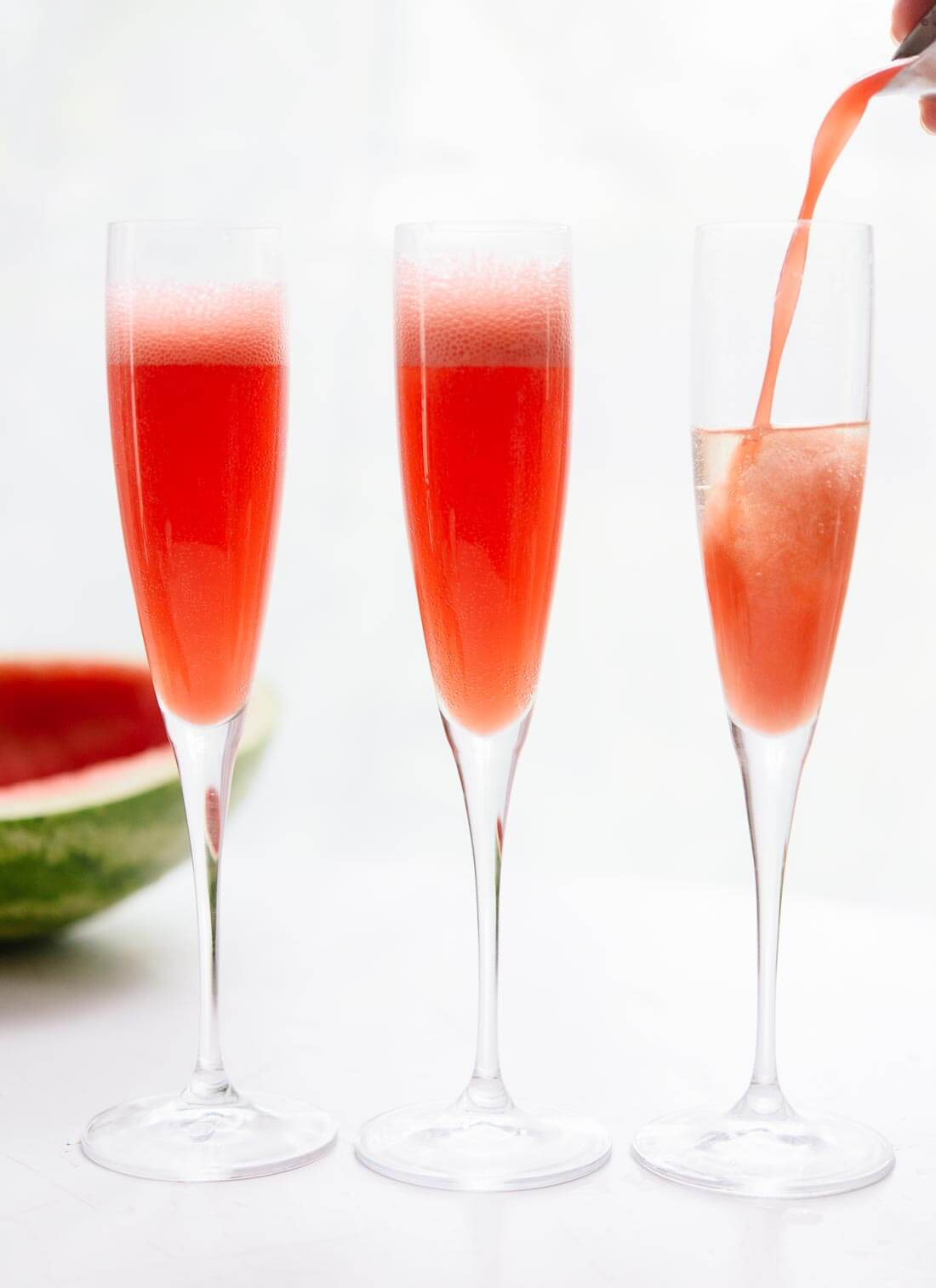 Ultra refreshing watermelon mimosas are so easy to make - cookieandkate.com