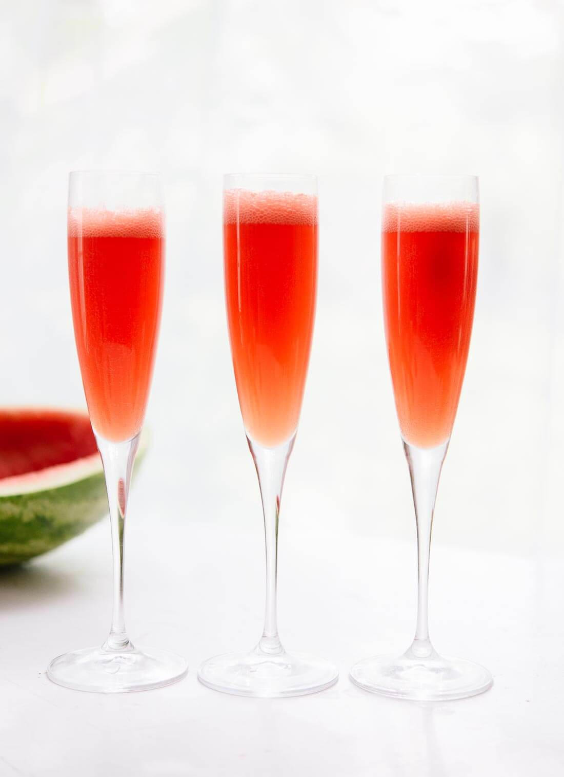 Super simple and refreshing watermelon mimosas - cookieandkate.com