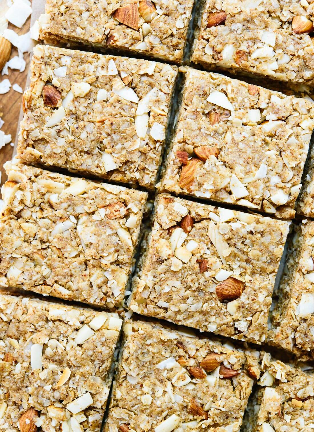 These healthy homemade granola bars are delicious and easy to make! Keep some handy for when hunger strikes. cookieandkate.com