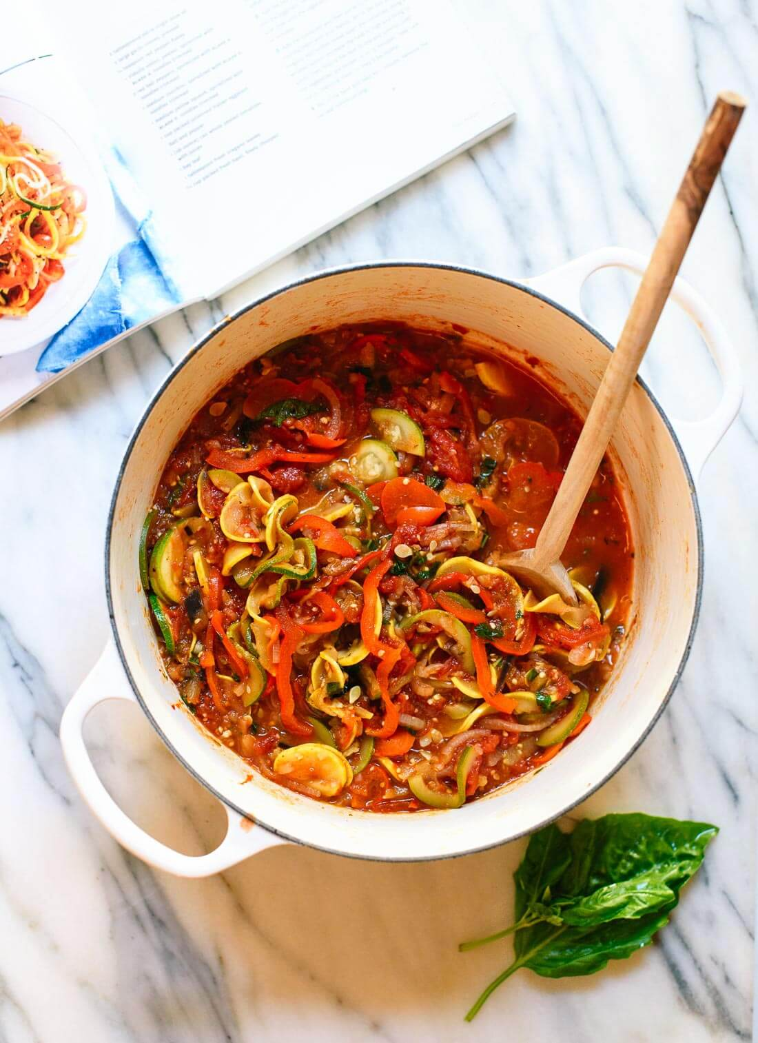 Quick and easy spiralized ratatouille recipe, perfect for summer ...