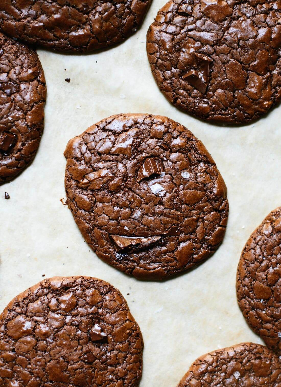 Buckwheat double chocolate cookies! These tastes like brownies in cookie form. Gluten free. cookieandkate.com