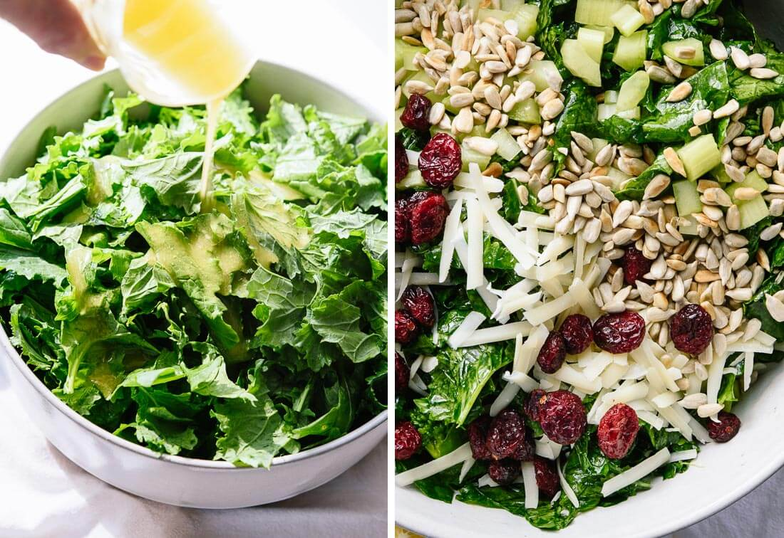 massaged raw broccoli rabe salad