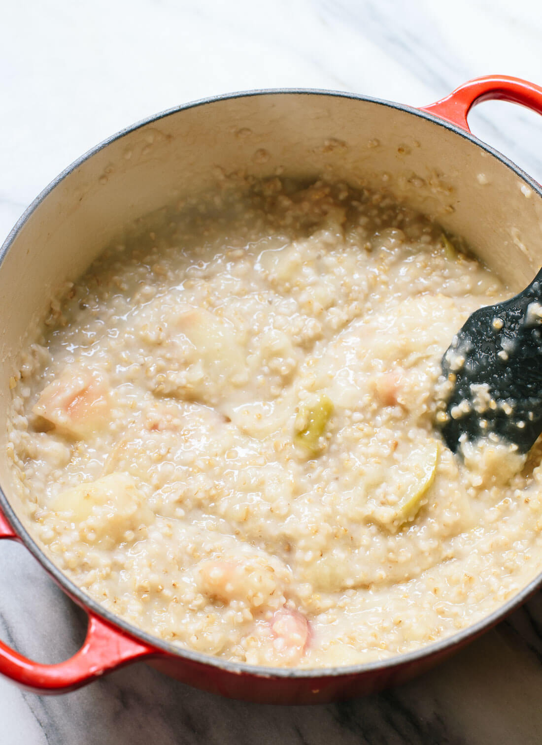 This amazing apple oatmeal is a one-pot, healthy breakfast that reheats beautifully for busy weekday mornings. cookieandkate.com