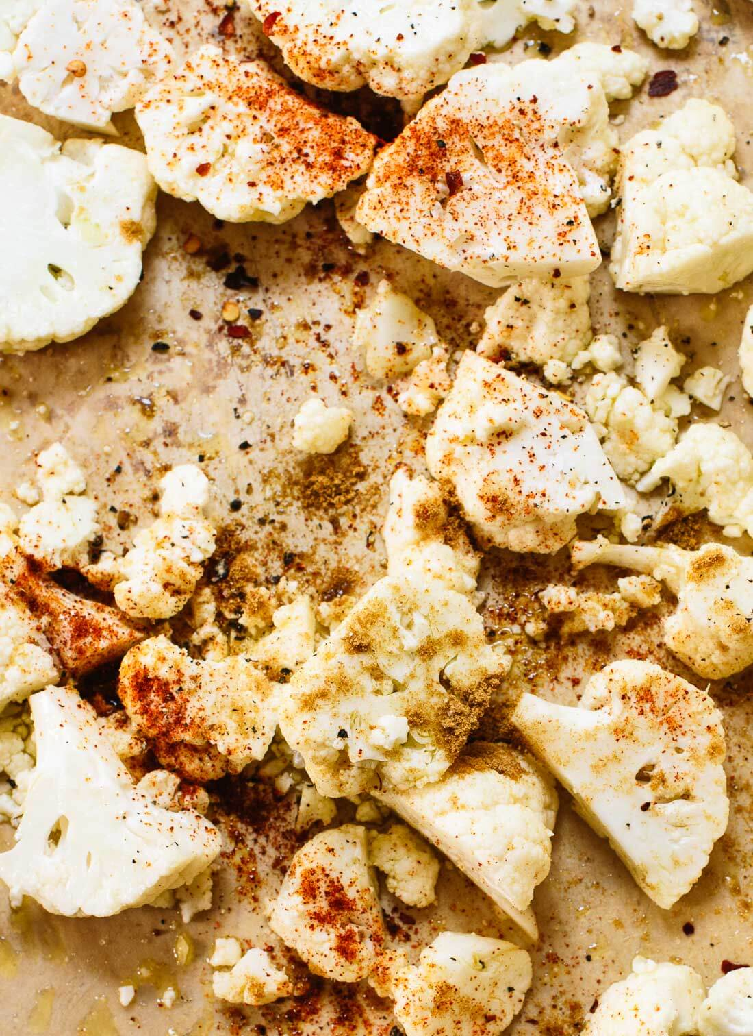 Cauliflower with Mexican spices