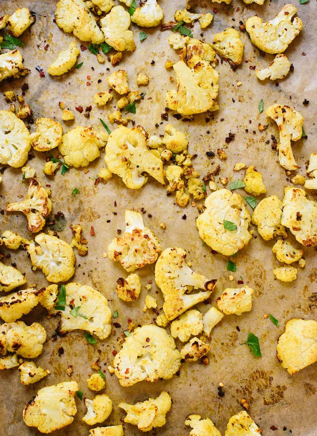 Curried roasted cauliflower recipe - I can't get enough! cookieandkate.com
