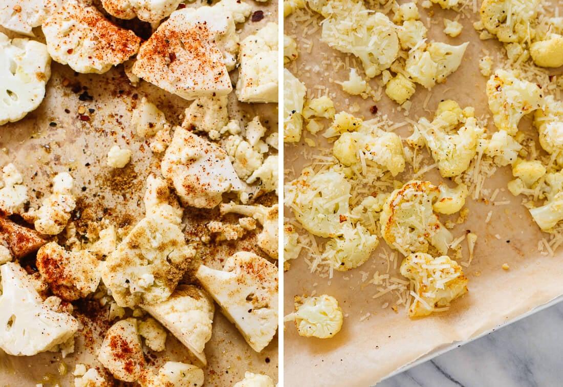 easy roasted cauliflower variations