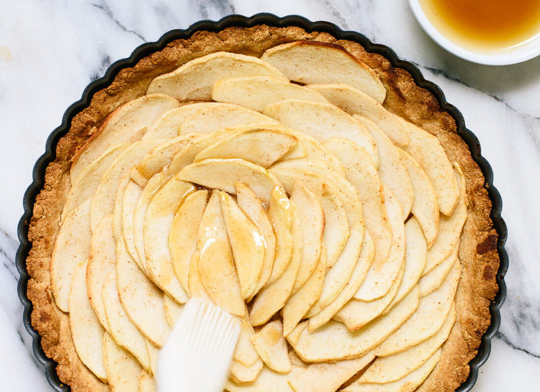 Gluten-free apple tart with maple glaze - cookieandkate.com