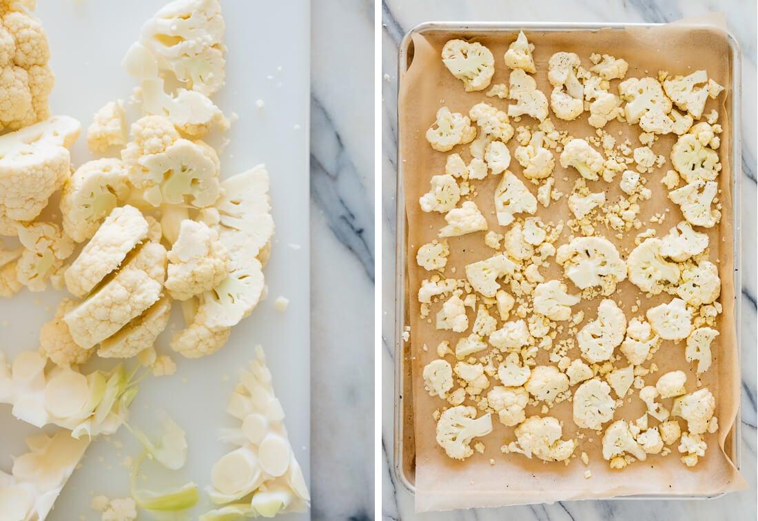 how to slice cauliflower