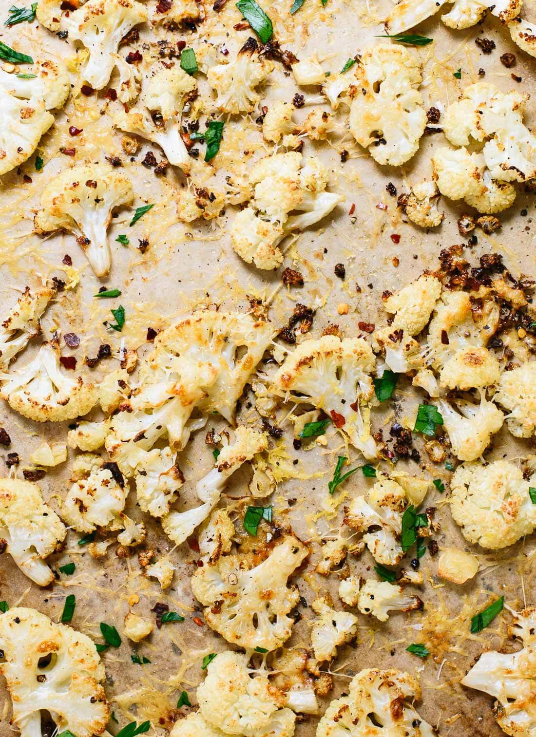 Learn how to roast cauliflower, plus three delicious variations! You'll find Italian, Mexican and Indian versions with this roasted cauliflower recipe. cookieandkate.com