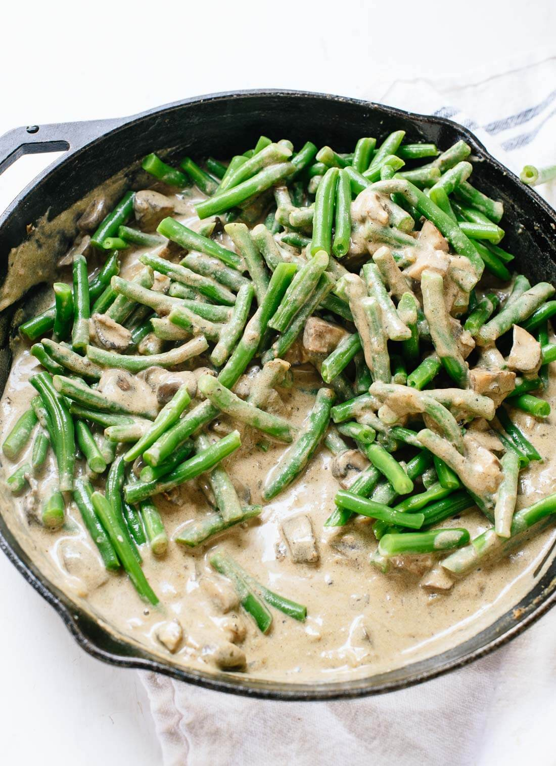 Green bean mushroom mixture