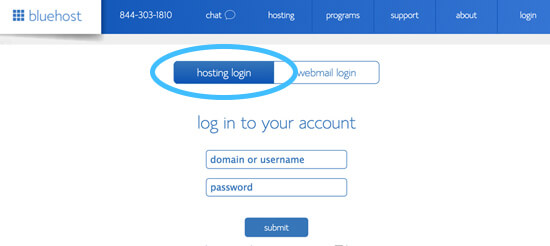 hosting login