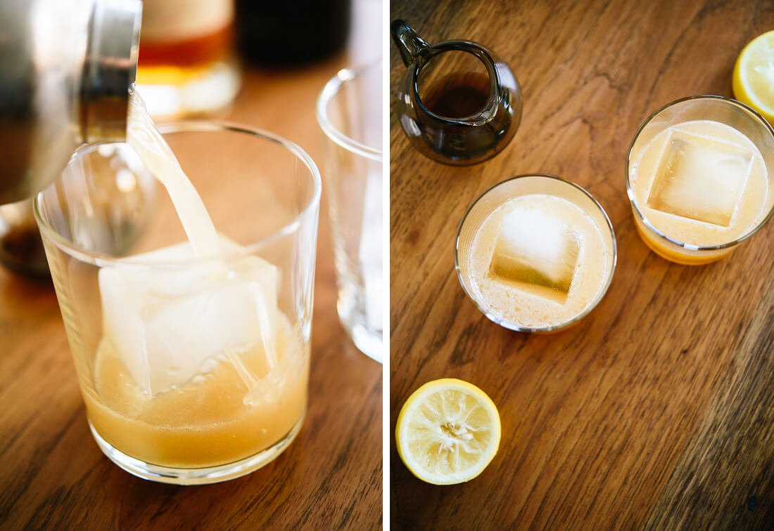 lemon, whiskey and maple syrup