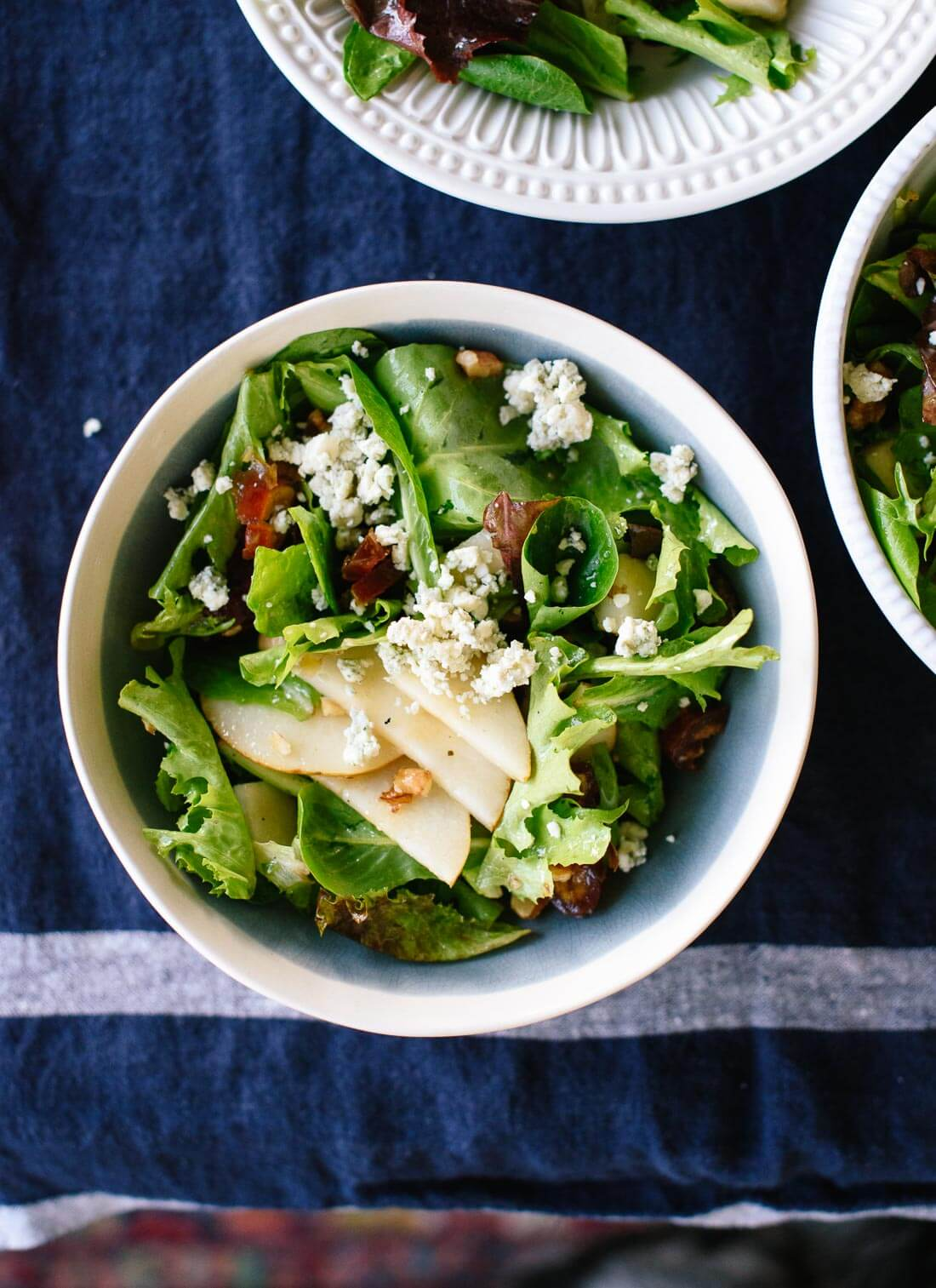 Pear, Date & Walnut Salad with Blue Cheese