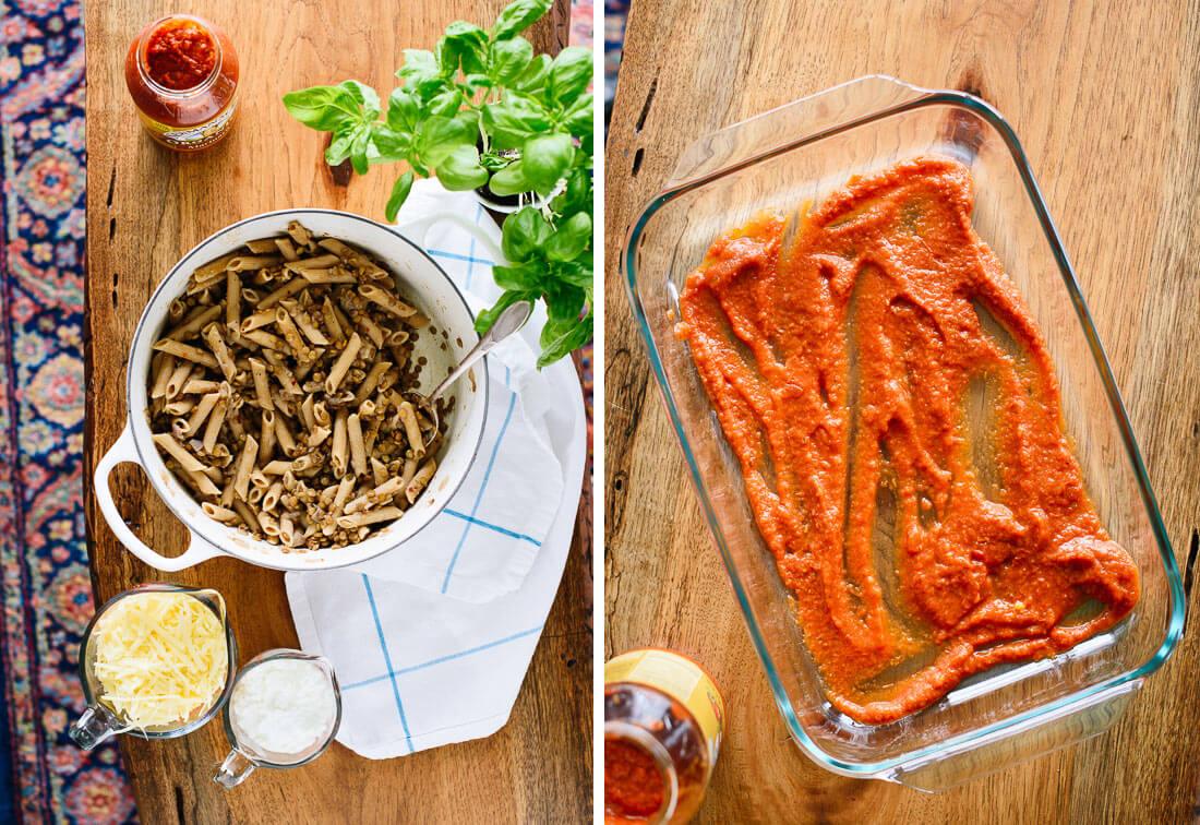 how to make vegetarian baked ziti