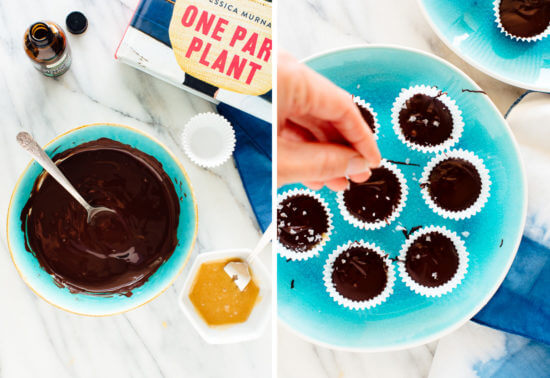 how to make chocolate peppermint cups