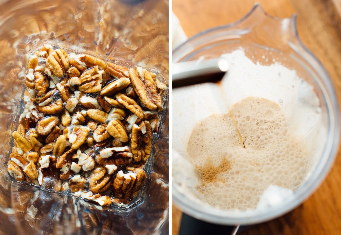 how to make pecan milk