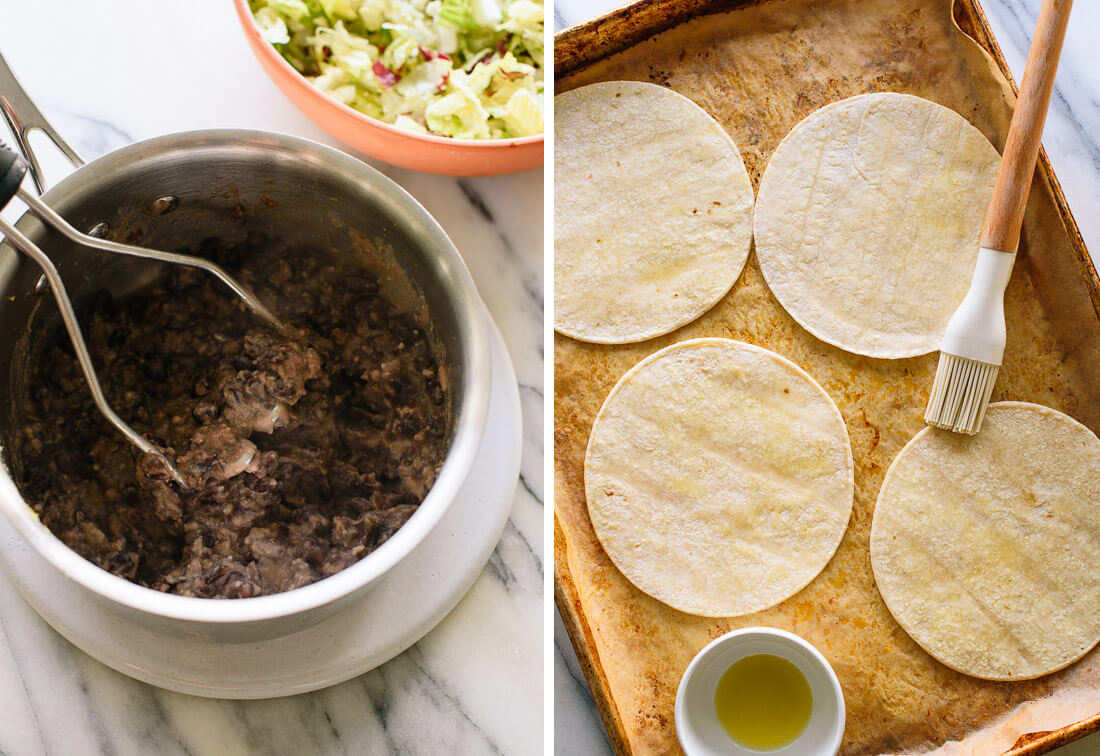 healthy refried black beans