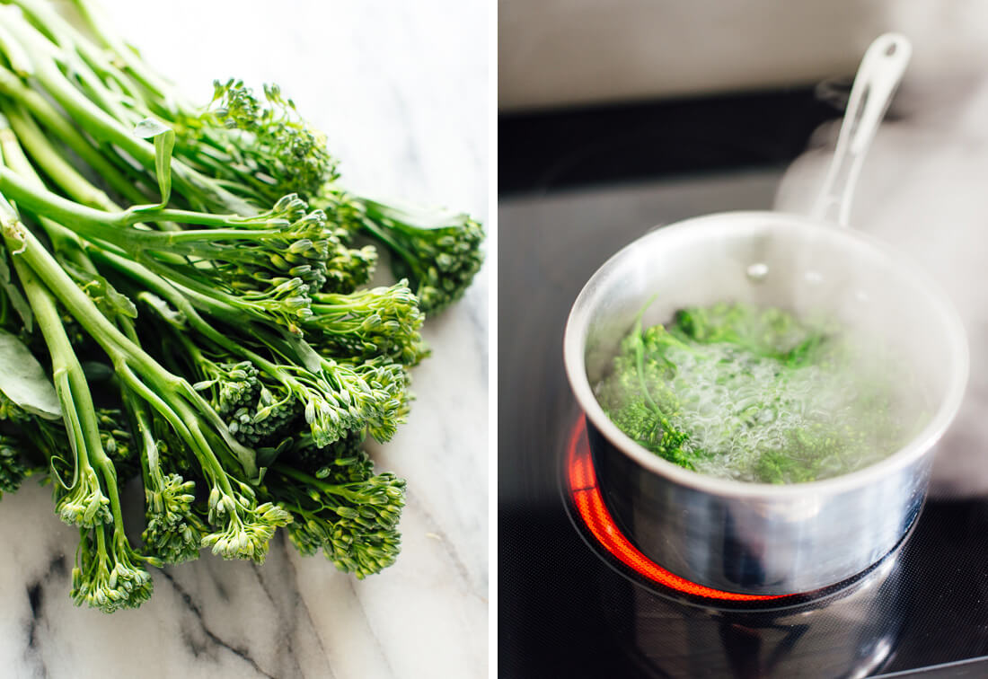 blanched broccolini