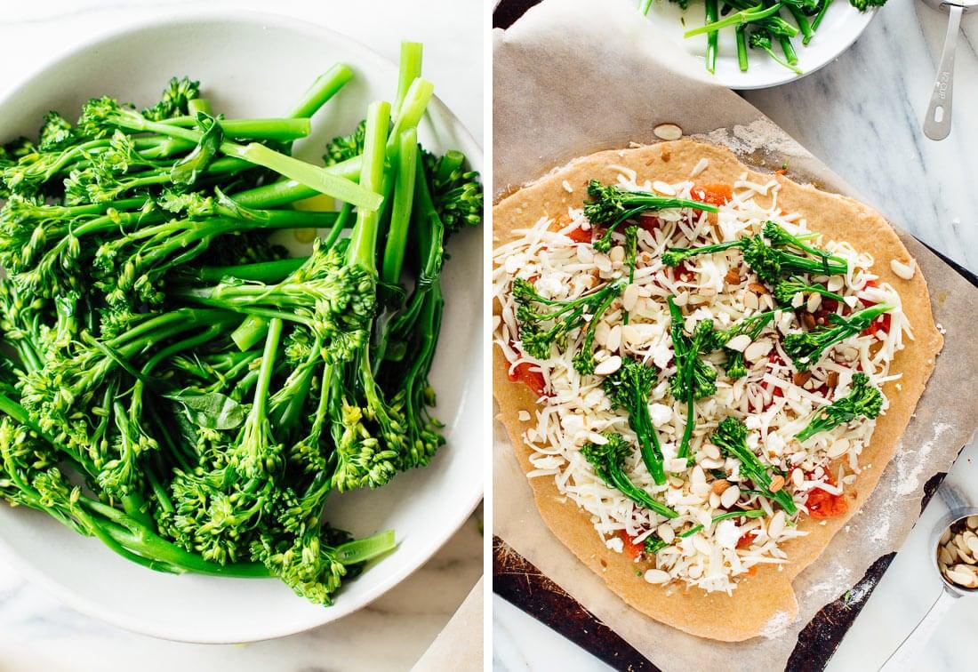 how to make broccolini pizza