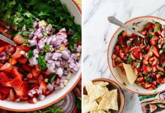 how to make strawberry salsa