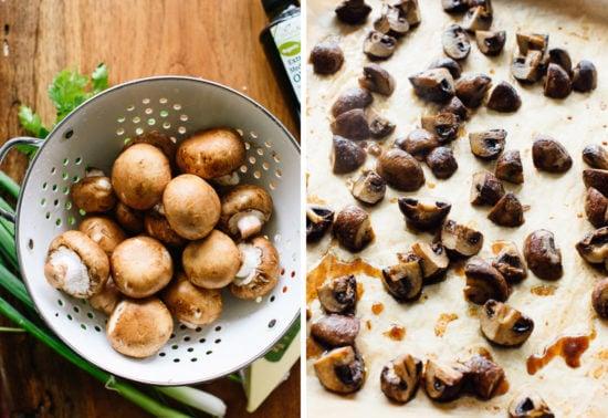 roasted mushrooms