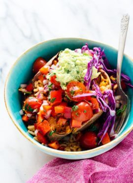 Fresh and hearty sweet potato burrito bowls recipe - recipe from The First Mess Cookbook