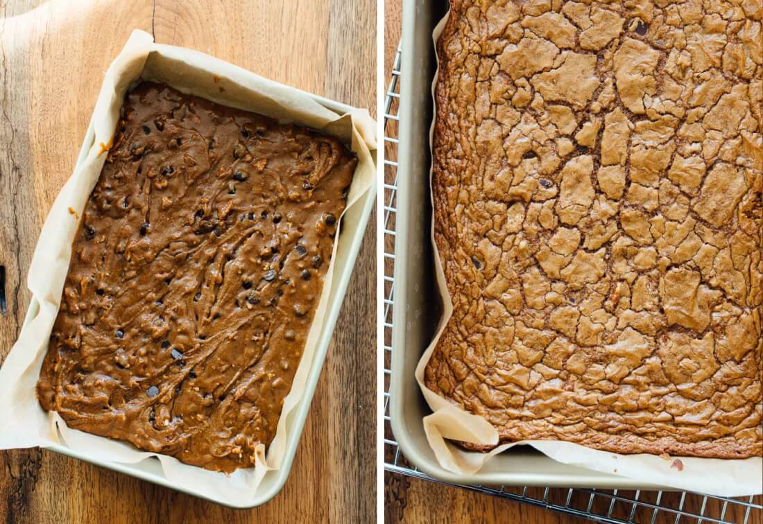 baked blondies
