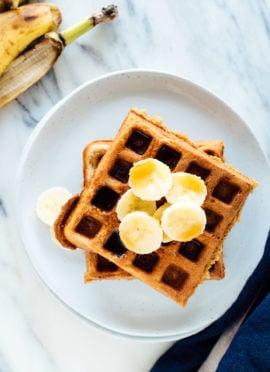 Gluten-Free Banana Oat Waffles