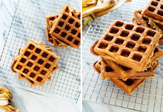 banana oatmeal waffles