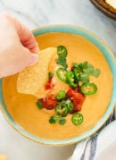 The best vegan queso recipe—incredibly creamy, yet made without any processed ingredients! cookieandkate.com