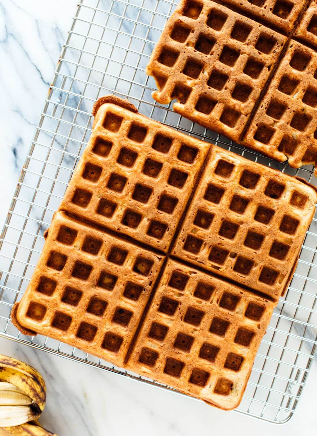Simple, delicious gluten-free banana waffles! Everyone will love these wholesome waffles. cookieandkate.com
