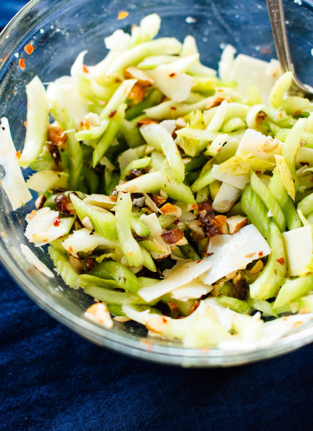 Celery Salad with Dates, Almonds and Parmesan