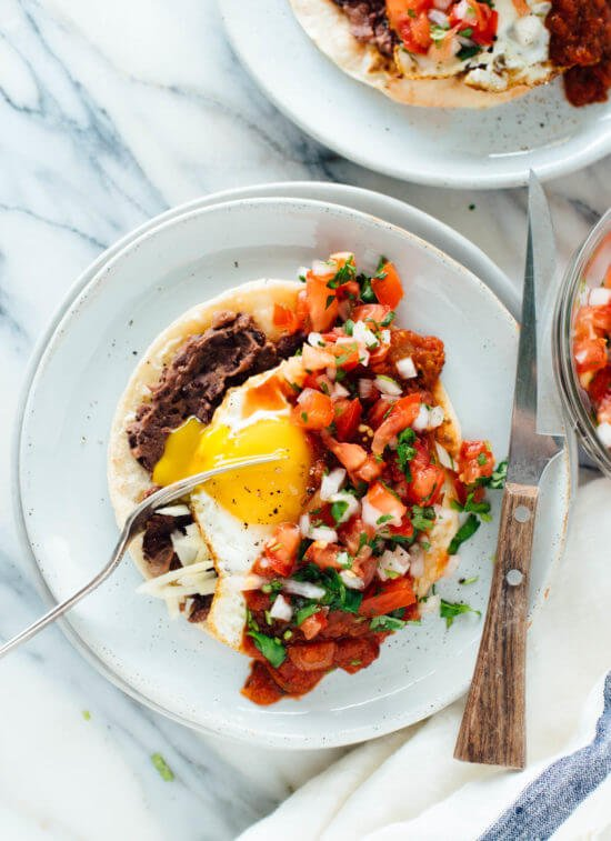 These homemade huevos rancheros are a hearty breakfast or dinner!