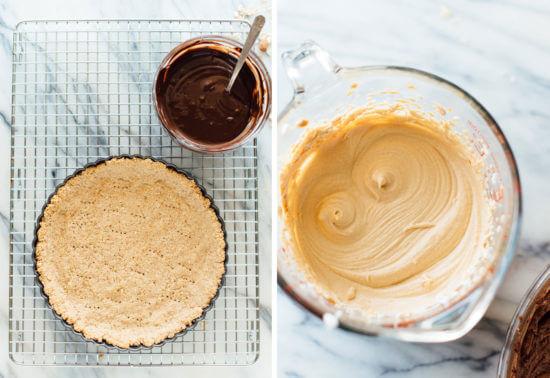 how to make chocolate peanut butter tart