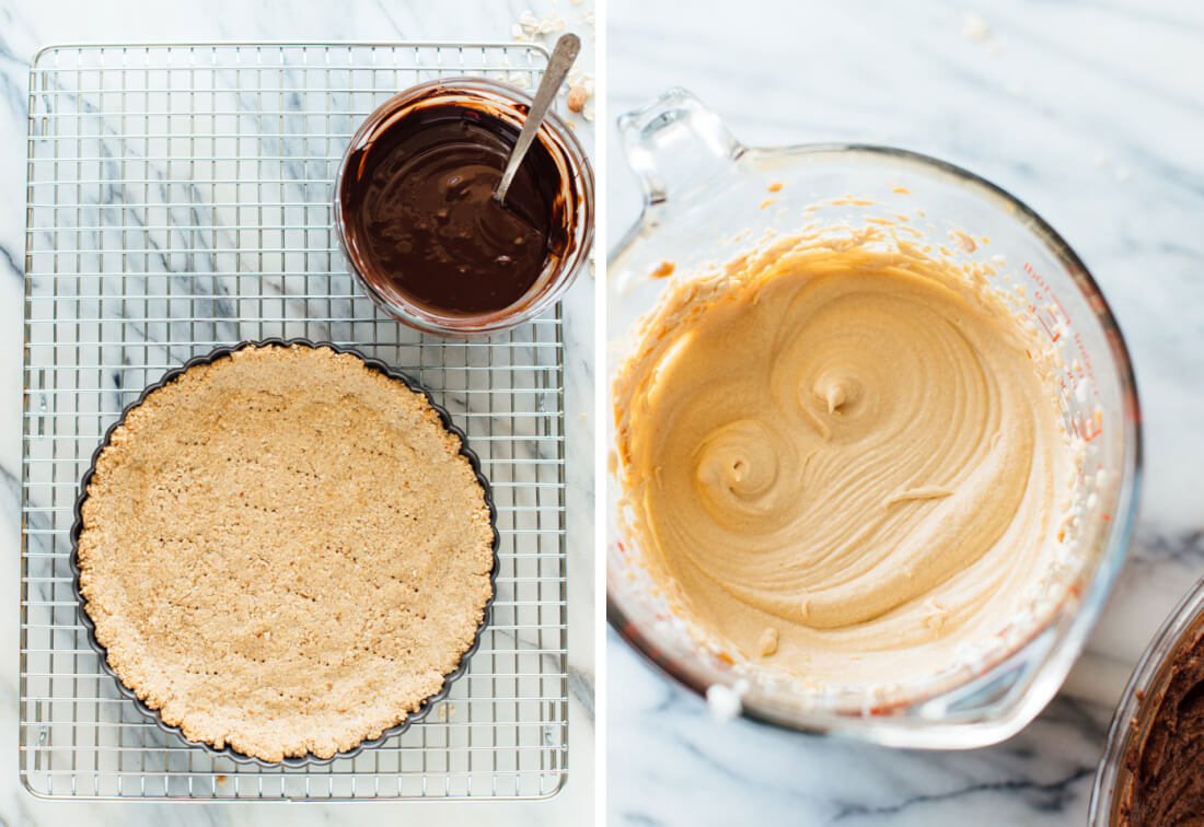 how to make chocolate peanut butter tart