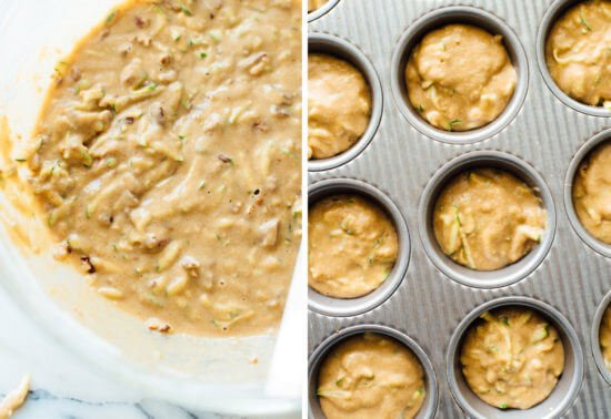 how to make zucchini muffins