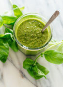 The best basil pesto recipe—learn all my tricks here! cookieandkate.com