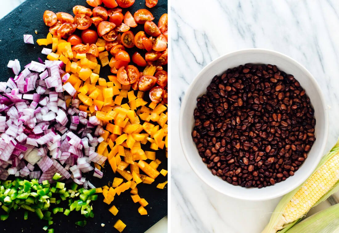 black bean salad ingredients