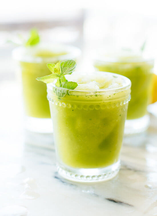 You'll love this frozen mint lemonade recipe (also called limonana!) cookieandkate.com