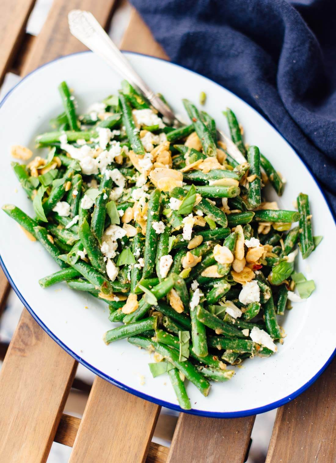 Green Bean Salad With Toasted Almonds Amp Feta Cookie And Kate