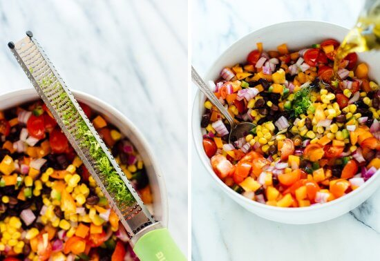 how to make black bean salad