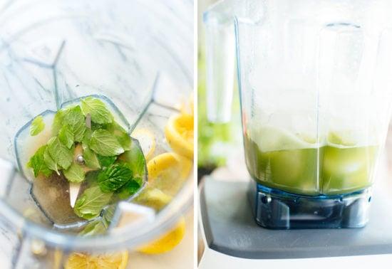 how to make frozen mint lemonade